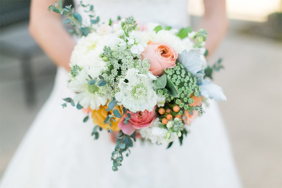 A beautiful bouquet from our wedding florist Irvine, CA